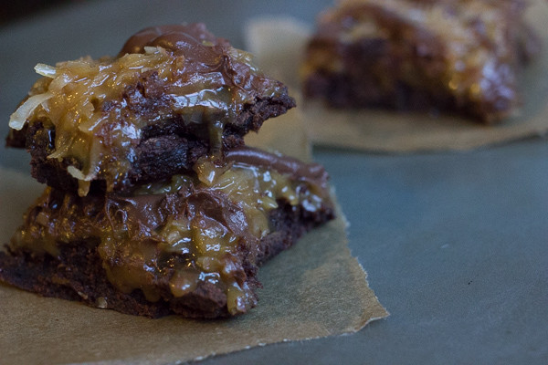 german chocolate brownies-12